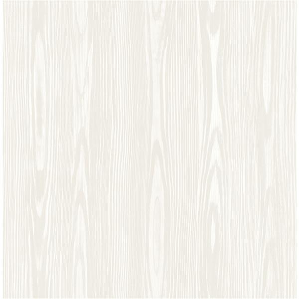 A-Street Prints Illusion 20.5-in Beige Faux Wood Wallpaper