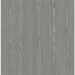 """Papier peint Illusion faux bois, 20,5"""", gris"""
