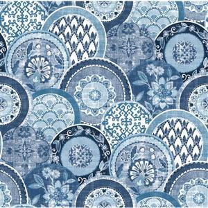 "Papier peint Laguna, 20,5"", bleu"