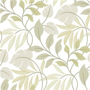 NuWallpaper Neutral Meadow Sticker Wallpaper - 20.5-in x 216-in