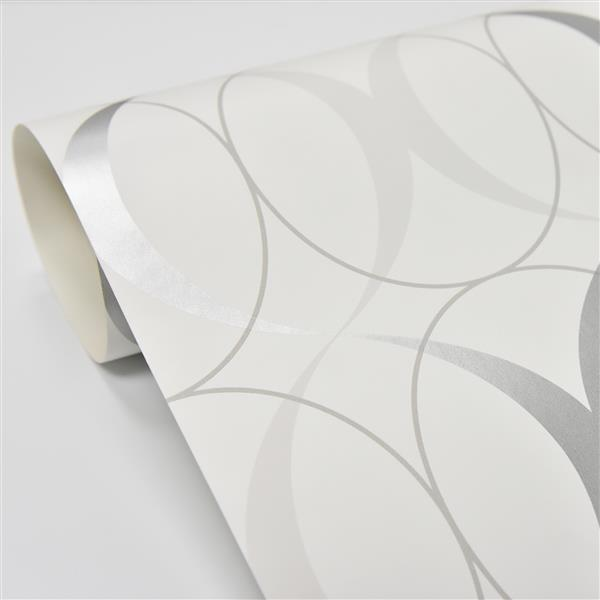 Nuwallpaper Sticker Wallpaper 20 5 X 216 Light Silver Nu1704 Rona