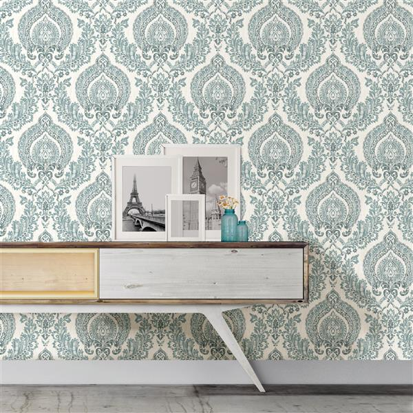 "NuWallpaper Kensington Sticker Wallpaper - 20.5"" x 216"""