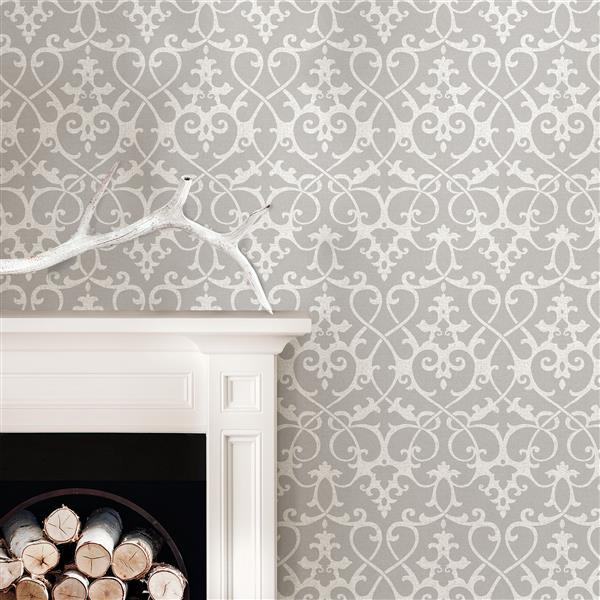 "NuWallpaper Sticker Wallpaper - 20.5"" x 216"" - Gray"