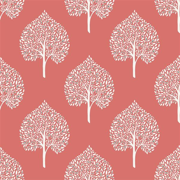 "NuWallpaper Grove Coral Sticker Wallpaper - 20.5"" x 216"""