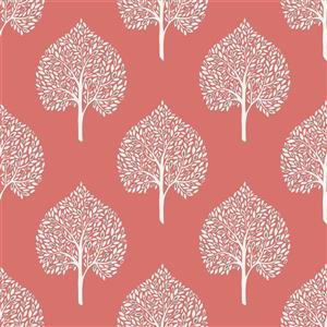 "NuWallpaper Grove Coral Sticker Wallpaper - 20.5"" x 216"""
