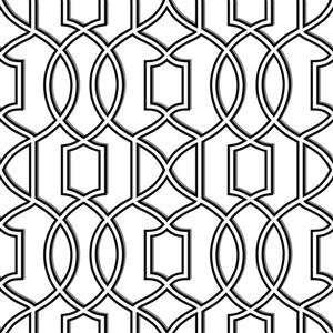 "NuWallpaper Trellis Sticker Wallpaper - 20.5"" x 216"" - Black"