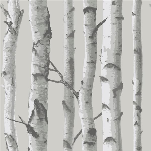 "NuWallpaper Sticker Wallpaper - Mountain Birch - 20.5"" x 216"" - Gray"
