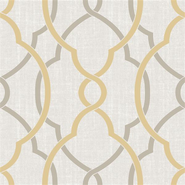 "NuWallpaper Sausalito Sticker Wallpaper - 20.5"" x 216"" -  Yellow"