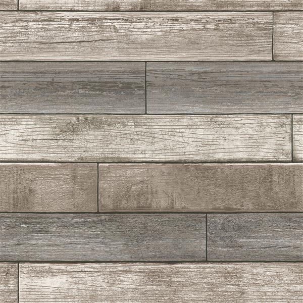 "NuWallpaper Recycled Wood Planks Wallpaper - 20.5"" x 216"""