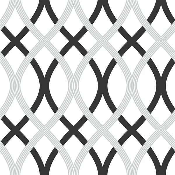NuWallpaper Self-adhesive Wallpaper - 20.5-in x 216-in - Black and Silver