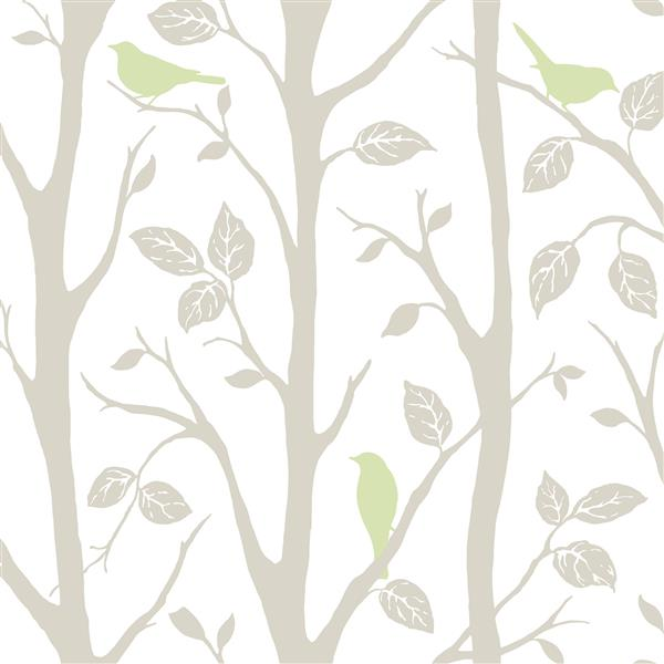 "NuWallpaper Sticker Wallpaper - Tree - 20.5"" x 216"" - Green"