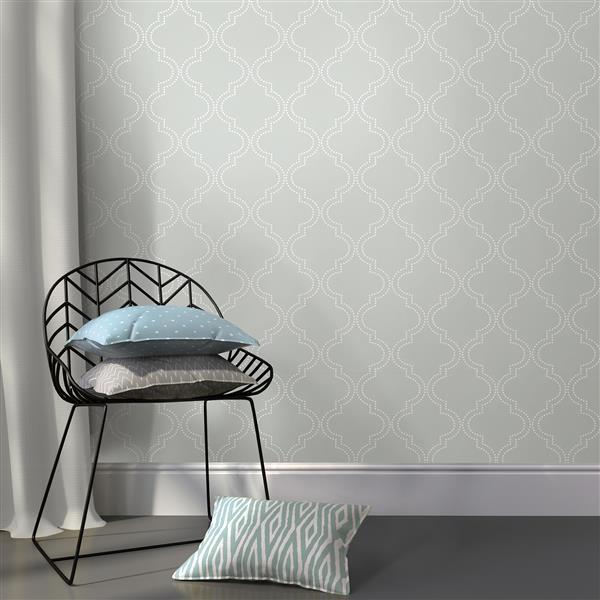 NuWallpaper Sticker Wallpaper - 20.5-in x 216-in - Gray