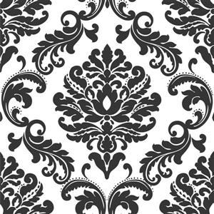 NuWallpaper Sticker Wallpaper - 20.5-in x 216-in - Black and White