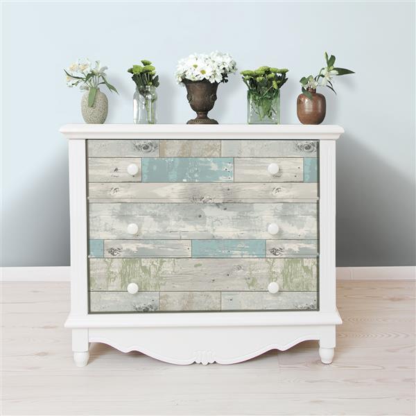"Beachwood Sticker Wallpaper - 20.5"" x 216"" - Blue"