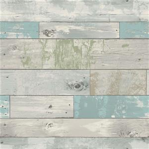 "Beachwood Sticker Wallpaper - 20.5"" x 216"" - Blue"