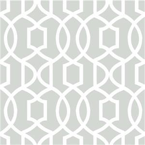 "NuWallpaper Grand Trellis Sticker Wallpaper - 20.5"" x 216"""