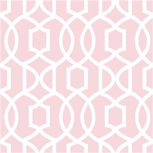 "NuWallpaper Grand Trellis Sticker Wallpaper - 20.5"" x 216"" - Pink"