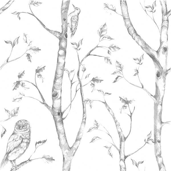 "Wood Sticker Wallpaper - 20.5"" x 216"" - Gray"
