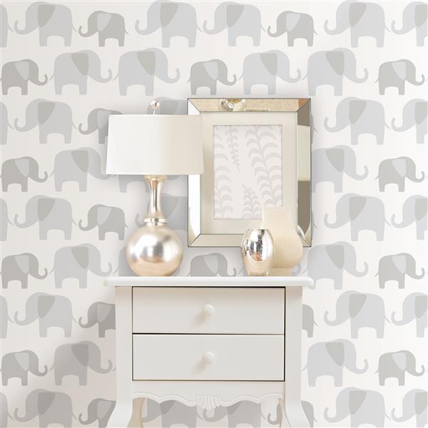 """NuWallpaper Elephants Sticker Wallpaper - 20.5"""" x 216"""""""