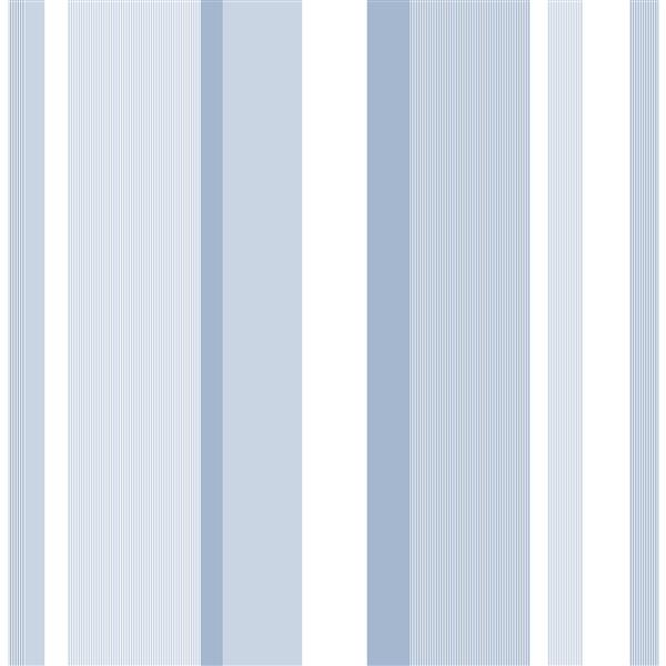 NuWallpaper Wallpaper Sticker - Stripes - 20.5-in x 216-in - Blue