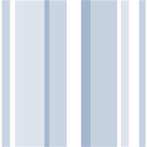 NuWallpaper Wallpaper Sticker - Stripes - 20.5-in x 216-in - Blue