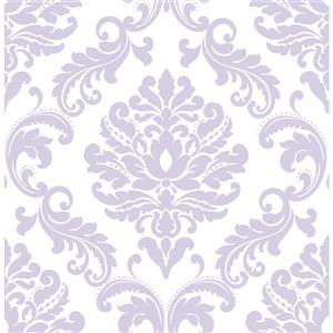 """Papier peint autocollant Ariel, 20,5"""" x 216"""", violet"""