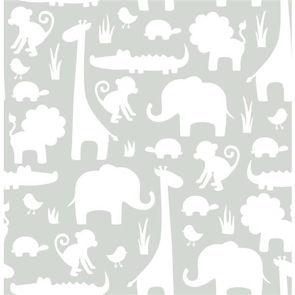NuWallpaper Sticker Wallpaper Dinosaurs - Gray