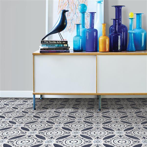 WallPops Sienna Self-adhesive Floor Tiles - 24-in x 60-in