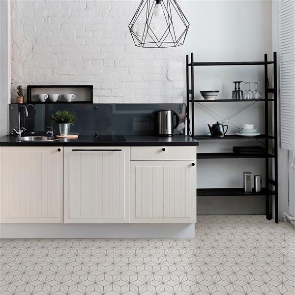 WallPops Kikko Self-adhesive Floor Tile - 24-in x 60-in - Gray