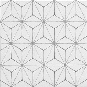 WallPops Kikko Self-adhesive Floor Tile - 24-in x 60-in - Gray