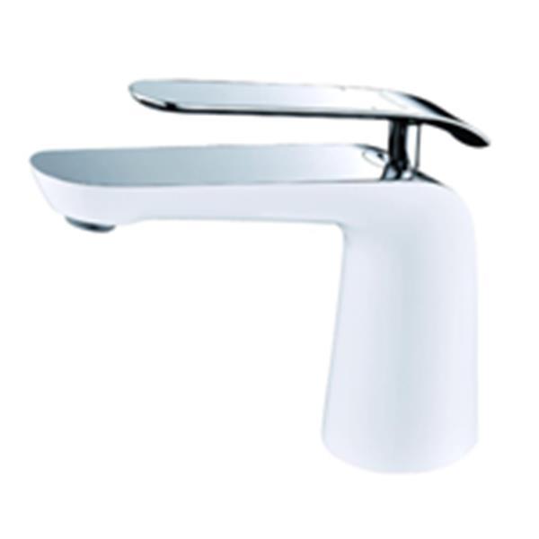 Sera Robinet de vanité de salle de bain Condor, blanc and chrome
