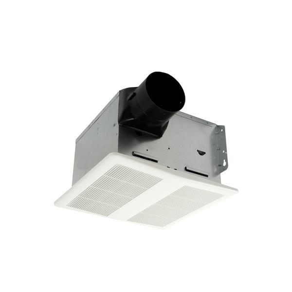 Cyclone Hushtone Bath Fan with Light and Humidistat - 80 CFM