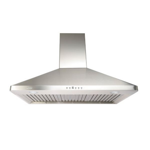 Cyclone 36-in Ducted Wall-Mounted Range Hood With Baffle Filters