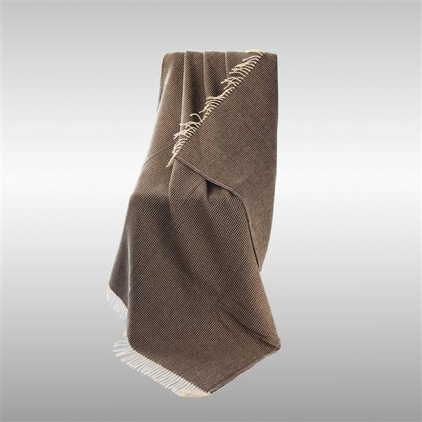 North Home Bedding Favo 67-in x 51-in Natural Lambswool Throw
