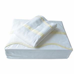 Ensemble de draps Truffles, 310 fils/po², blanc, grand lit