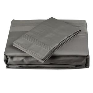 North Home Bedding Satin 600 Thread Count Grey Full Sheet Set