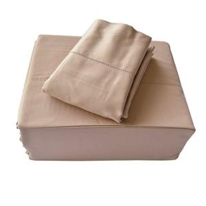 North Home Bedding Isabelle 310-Thread Count Sheet Set - Taupe - Combed Cotton - King