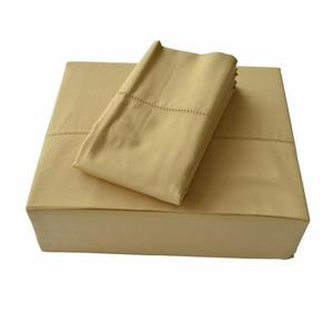 North Home Bedding Isabelle 310-Thread Count Gold Cotton King Sheet Set