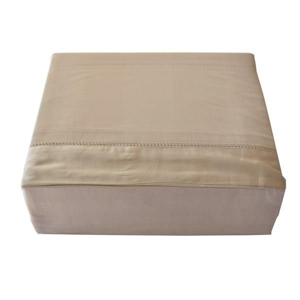North Home Bedding Isabelle King 3-Piece Taupe Duvet Cover Set