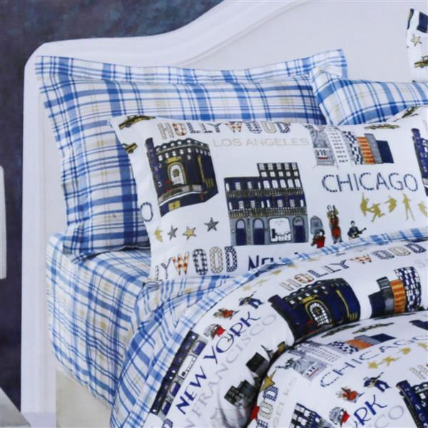 North Home Bedding Voyage 220-Thread Count Multiple Colours Cotton Queen (4 Pieces)