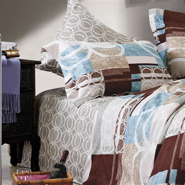 North Home Bedding Waltz 220-Thread Count Multiple Colours Queen Sheet Set (4 Pieces)