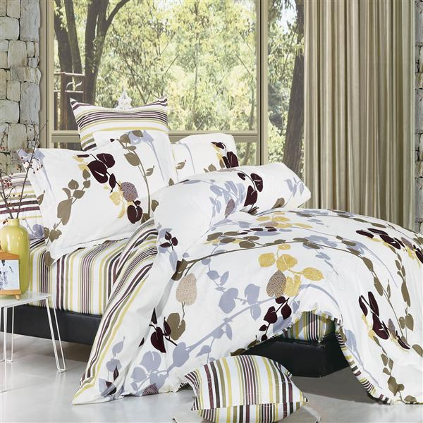 North Home Bedding Vintage 220-Thread Count Multiple Colours Queen Sheet Set (4 Pieces)