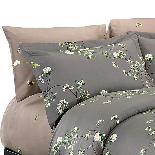 North Home Bedding Trellis 220-Thread Count Cotton Multiple Colours Queen Sheet Set (4 Pieces)