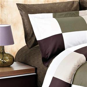North Home Bedding Parker Brown 220-Thread Count Cotton Multiple Colours Twin Sheet Set