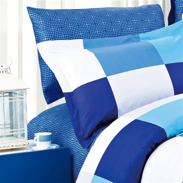 North Home Bedding ParkerNavy 220-Thread Count Cotton Multiple Colours Quee Sheet Set
