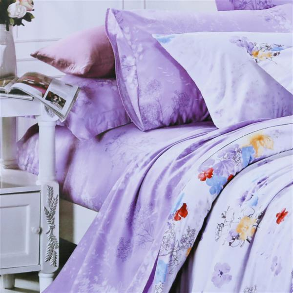 North Home Bedding Pansy 220-Thread Count Multiple Colours Cotton Queen Sheet Set
