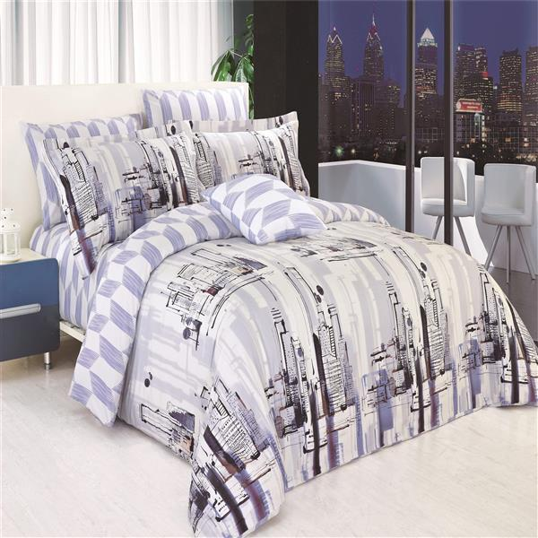 North Home Bedding Metro 220-Thread Count Multiple Colours Cotton Queen Sheet Set