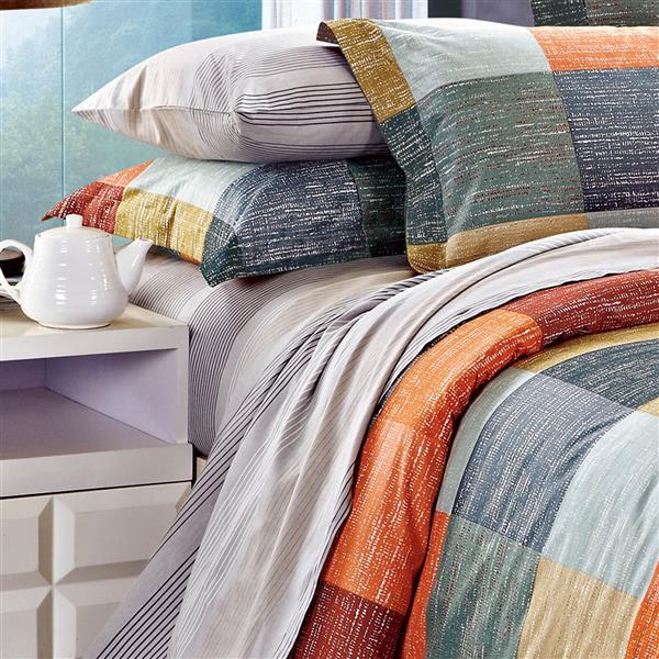 North Home Bedding Manchester 220-Thread Count Multiple Colours Twin Sheet Set