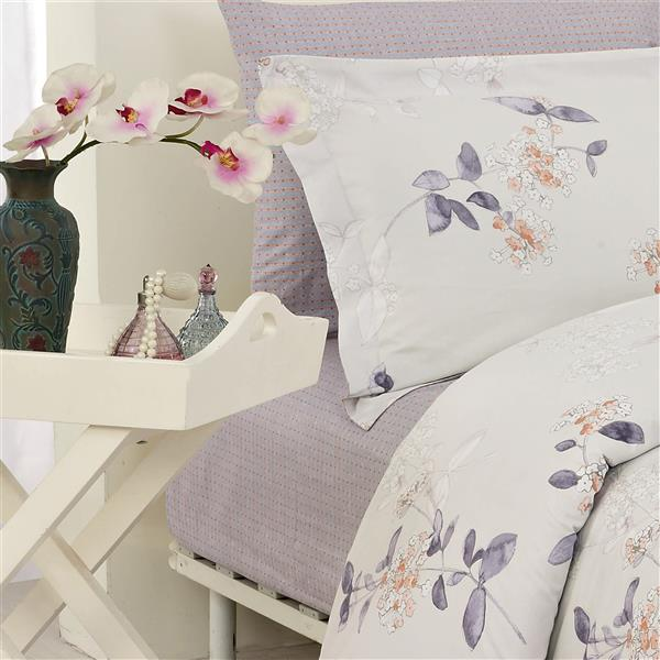 North Home Bedding Jaimey 220-Thread Count Multiple Colours Queen Sheet Set