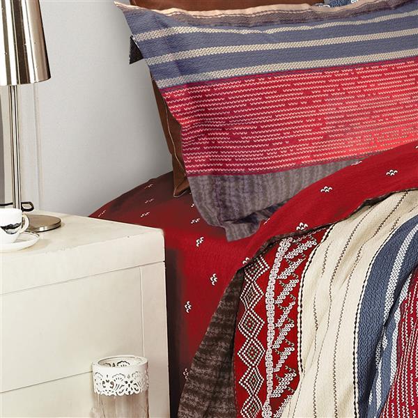 North Home Bedding Algonquin Cotton 220 Thread Count Multiple Colours Queen Sheet Set